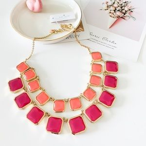 Kate Spade Rose Stone Statement Necklace